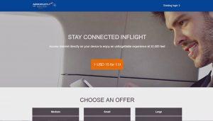 Aeroflot onbooard Wifi