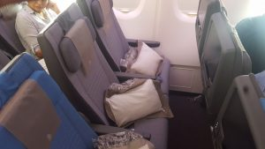 Singapore Airlines' new A380 economy class seat