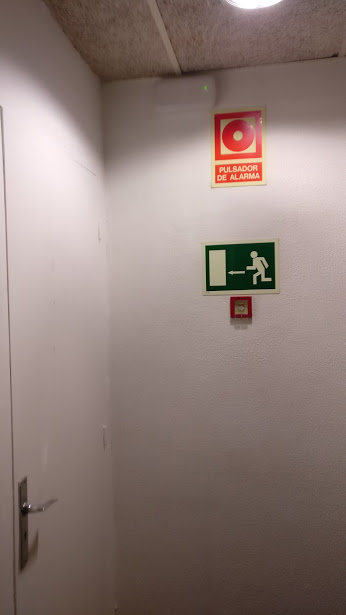 Locked fire door. No other means of escape from that floor