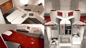 Hainan Airlines A330-300 business cabin