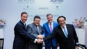 Marriott International and YTL Hotels announced agreements for new hotels across Asia