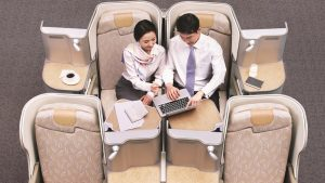 Asiana Airlines Business Smartium class seats