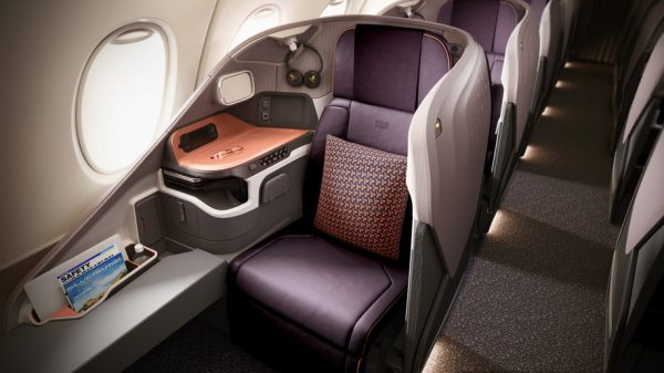 The new business class seat on Singapore Airlines' new A380 superjumbo