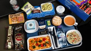 Revamped British Airways World Traveller catering