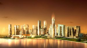 Illustration of GIFT City plan