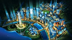 Illustration of the GIFT City plan