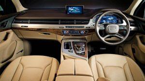 Interiors of the Audi Q7