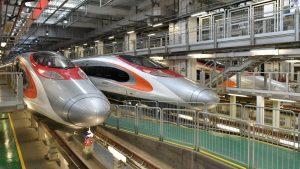 The new high-speed railway from Guangzhou to Hong Kong via Shenzhen