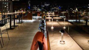 Rooftop Gallery Evening Hilton Curio Trafalgar St James