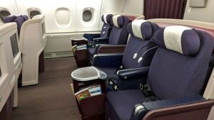 Malaysia Airlines A380 business class back-row