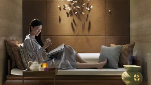Luxury spa suite at the Mandarin Oriental Shanghai Pudong