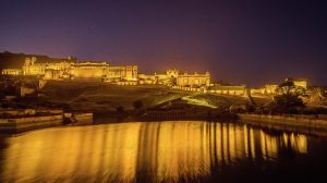 Amer Fort by night