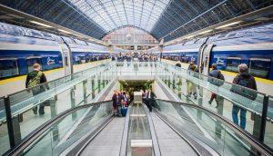 Eurostar customers at London St Pancras