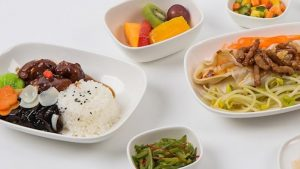 Delta menu on Chinese, Japanese and Korean routes