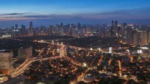 Grand Hyatt Manila Makati skyline