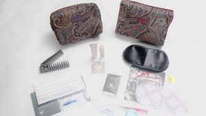JAL first class amenity kit by Etro