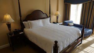 Langham LA Huntington suite bed