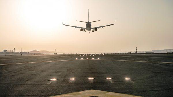 Runway at Dubai International airport