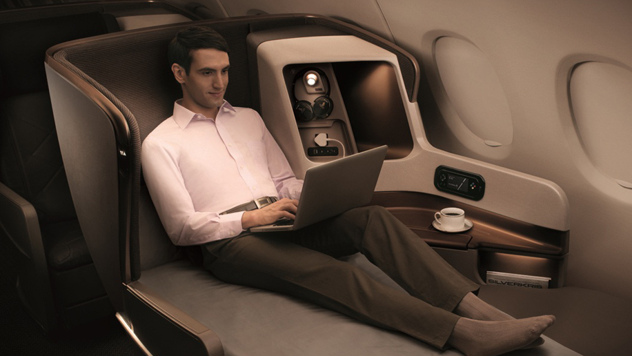 Singapore Airlines business class (B777-300ER)