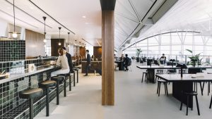 Cathay Pacific's The Deck lounge, Hong Kong Airport