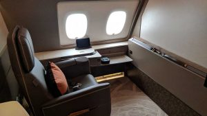 Singapore Airlines A380 First Class Suites - suite 3A