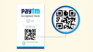 A Paytm barcode