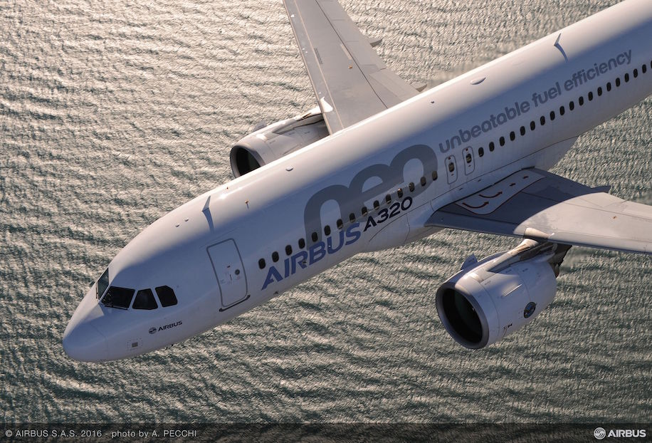 A320neo with Pratt and Whitney engines