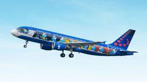 Brussels Airlines' Aerosmurf aircraft