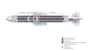 New layout on Austrian Airlines's refitted B767-300ER aircraft