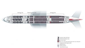 New layout on Austrian Airlines's refitted B777-200ER aircraft