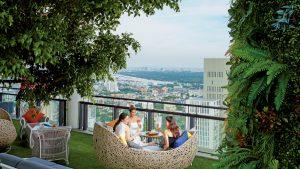 Saffron Sky Garden bar, Banyan Tree Bangkok