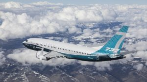 The 737 MAX 7 completed a successful first flight - Credit: PRNewsfoto/Boeing