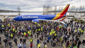 Boeing rolls out its 10,000th 737 aircraft, set to go to Southwest Airlines