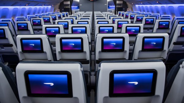 BA's revamped B777 aircraft will feature ten-across World Traveller seating