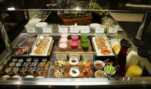 Breakfast Buffet at the Singapore Airlines lounge at London Heathrow Terminal 2B