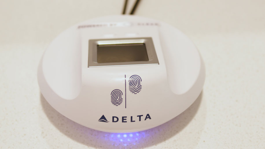 Delta biometric scanner
