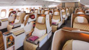 Emirates B777-200LR business class