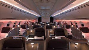Qantas Dreamliner busienss class