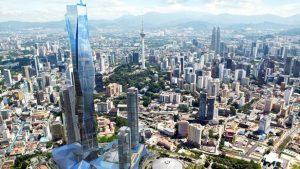 Park Hyatt Kuala Lumpur occupies the top 17 floors of the upcoming PNB 118 tower in Kuala Lumpur: Credit - PNB Merdeka Ventures