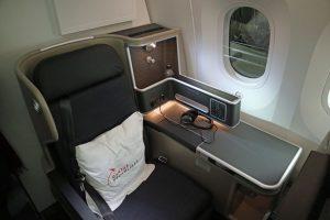 Qantas business class Window-seat