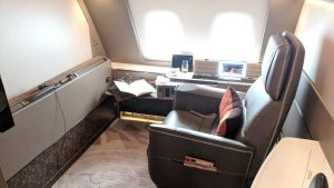 Singapore Airlines A380 First Class suite - suite 3D