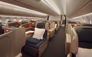 Qantas business class on the B787-9 Dreamliner