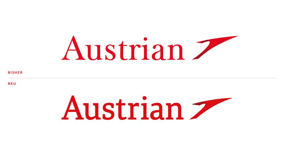 austrian airlines tweaks logo and livery business traveller