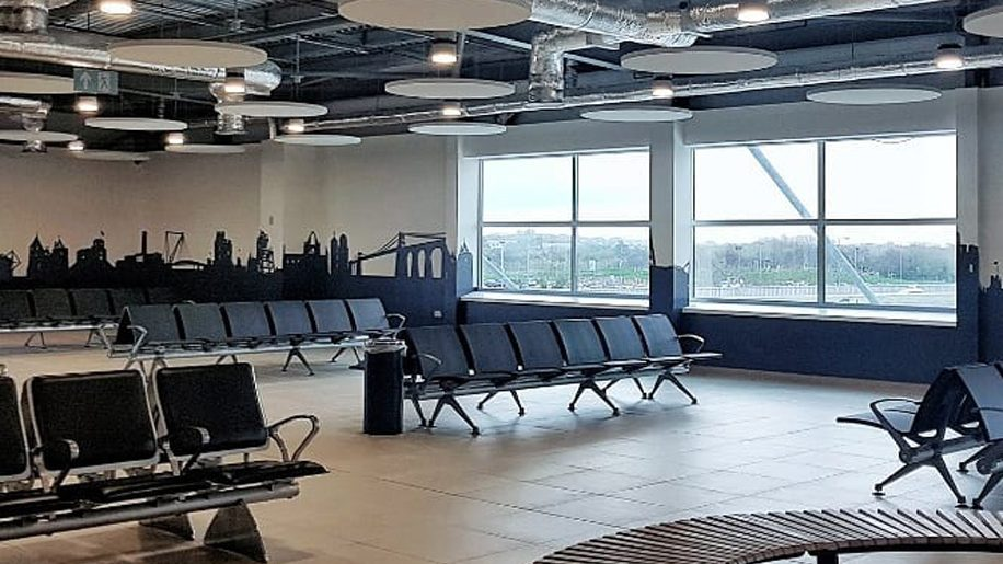Revamped Departures Lounge at Cardiff airport