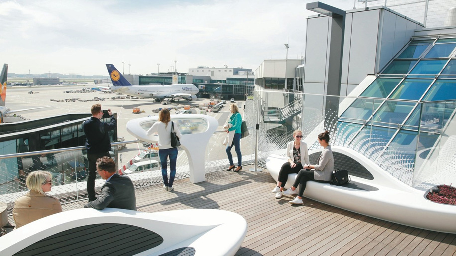 Frankfurt Airport has opened a new rooftop terrace within the transit zone at Terminal 1