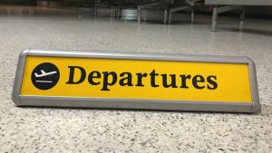 Heathrow T1 Departures sign