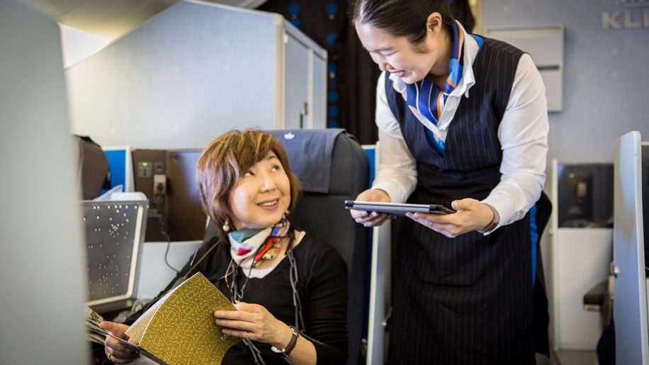 KLM Anytime For You dining service