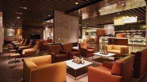 Lufthansa first class lounge at Frankfurt Airport