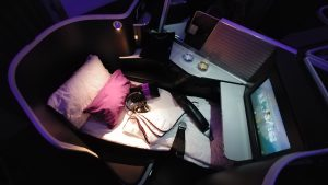 Virgin Australia business bed