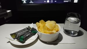 Virgin Australia crisps and chocolate